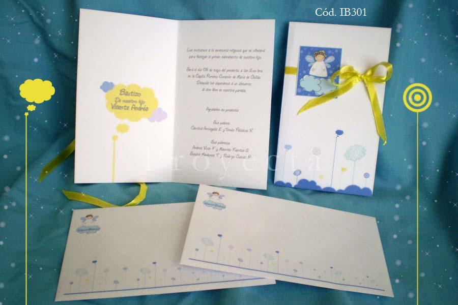 Línea Invitaciones IB300 – Díptico con moño « Tarjetería ...