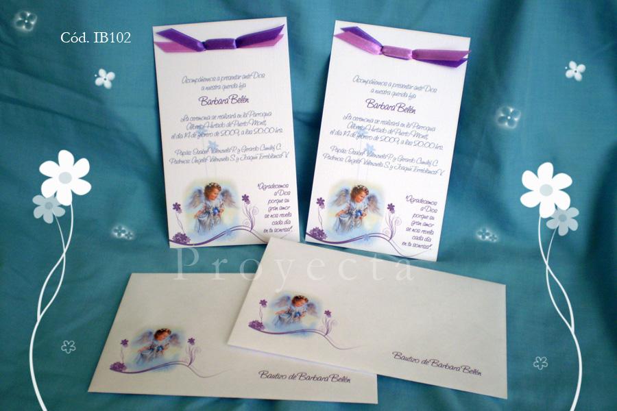 Línea Invitaciones IB100 – Tarjetón con moño « Tarjetería ...